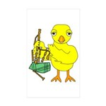 Bagpipe Chick Sticker (Rectangle 10 pk)