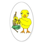 Bagpipe Chick Sticker (Oval)
