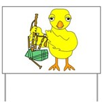 Bagpipe Chick Yard Sign