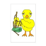 Bagpipe Chick Mini Poster Print