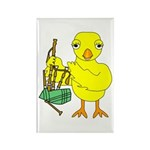 Bagpipe Chick Rectangle Magnet (100 pack)