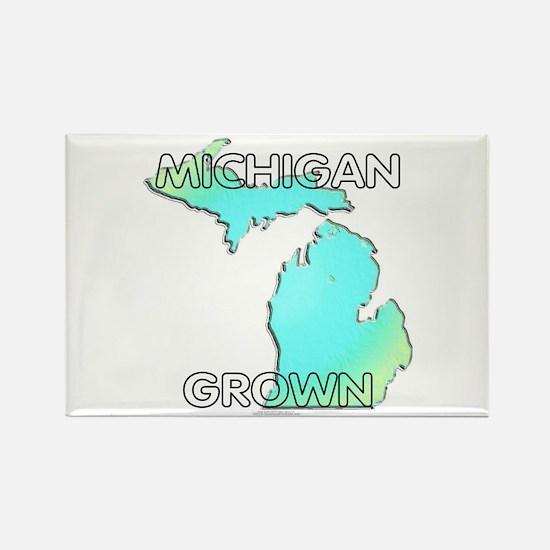 Michigan grown Rectangle Magnet
