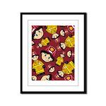 Cute Little Firefighter Framed Panel Print