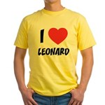 I love Leonard Yellow T-Shirt