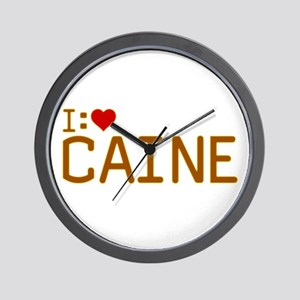 I Heart Caine Wall Clock