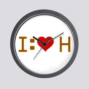 I Heart H Wall Clock