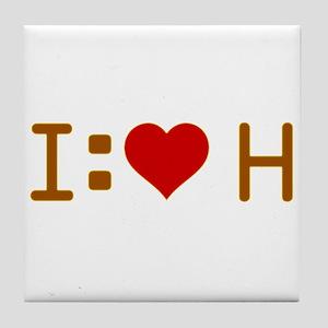 I Heart H Tile Coaster