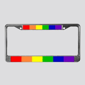 Pride Flag License Plate Frame
