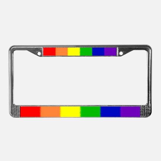 Pride Flag License Plate Frame