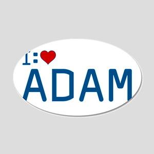 I Heart Adam 22x14 Oval Wall Peel