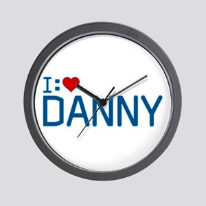 I Heart Danny Wall Clock