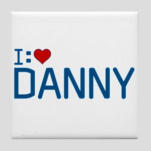 I Heart Danny Tile Coaster