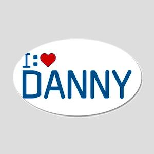 I Heart Danny 22x14 Oval Wall Peel