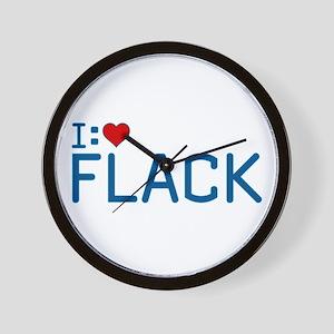 I Heart Flack Wall Clock