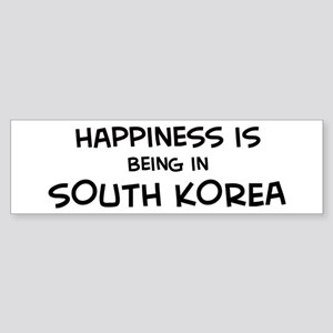 Happiness is South Korea Bumper Sticker