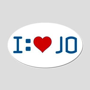 I Heart Jo 22x14 Oval Wall Peel