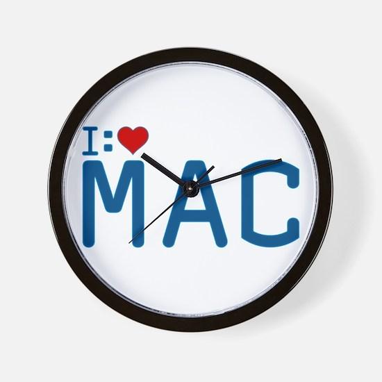 I Heart Mac Wall Clock