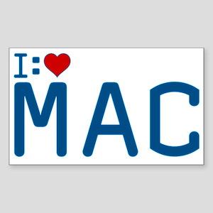 I Heart Mac Sticker (Rectangle)