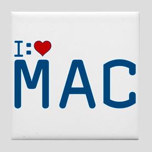 I Heart Mac Tile Coaster