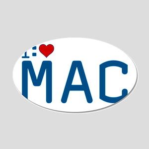 I Heart Mac 22x14 Oval Wall Peel