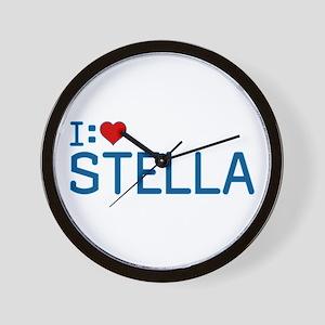 I Heart Stella Wall Clock