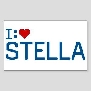 I Heart Stella Sticker (Rectangle)
