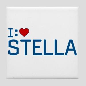 I Heart Stella Tile Coaster