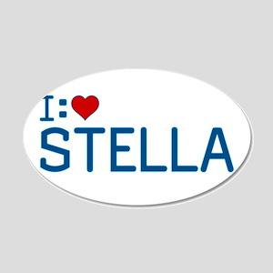 I Heart Stella 22x14 Oval Wall Peel