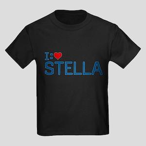 I Heart Stella Kids Dark T-Shirt