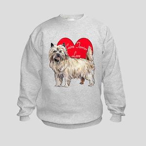 Cairn Terrier Love Kids Sweatshirt