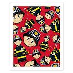 Cute Little Firefighter Small Poster