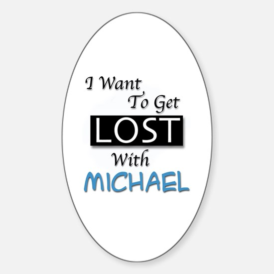 Get Lost With Michael Sticker (Oval)