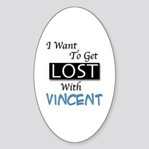 Get Lost With Vincent Sticker (Oval)