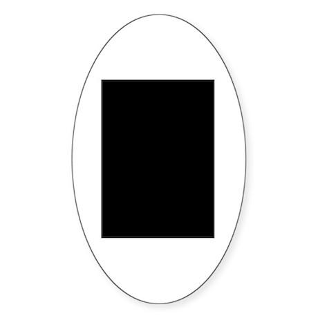Softball Oval Sticker
