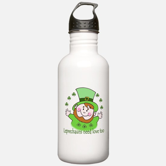 Leprechauns need love Water Bottle