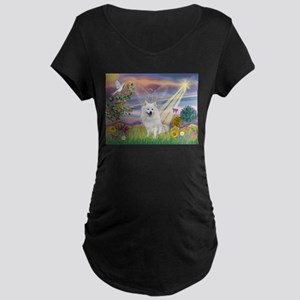 Cloud Angel / Eskimo Maternity Dark T-Shirt