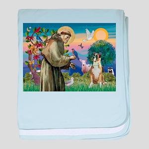 Saint Francis & Boxer baby blanket