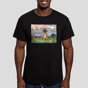 Cloud Angel & Boxer Men's Fitted T-Shirt (dark)
