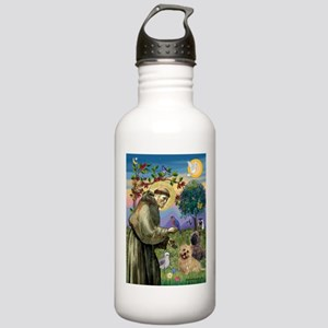 St Francis / Cairn Terrier Stainless Water Bottle