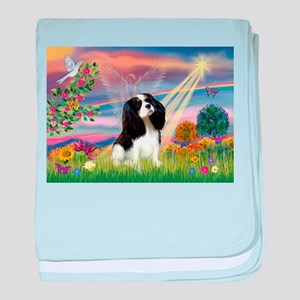 Cloud Angel Tri Cavalier baby blanket