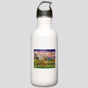 Autumn Angel & Chow Stainless Water Bottle 1.0L