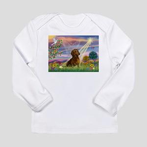 Cloud Angel & Dachshund Long Sleeve Infant T-Shirt