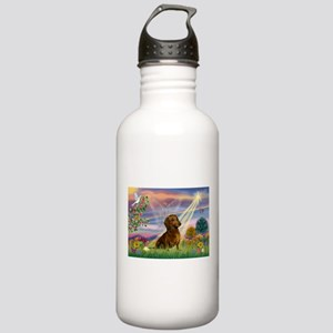 Cloud Angel & Dachshund Stainless Water Bottle 1.0