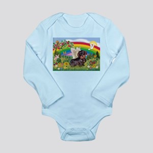 Rainbow Bright / Dachshund (w Long Sleeve Infant B