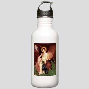 Seated Angel & Dobie Stainless Water Bottle 1.0L