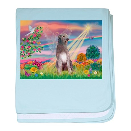Cloud angel / Wolfhound(g) baby blanket