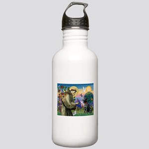 St Francis / Lab (black) Stainless Water Bottle 1.