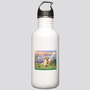 Cloud Angel & Yellow Lab Stainless Water Bottle 1.