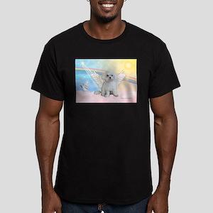 Maltese / Angel Men's Fitted T-Shirt (dark)
