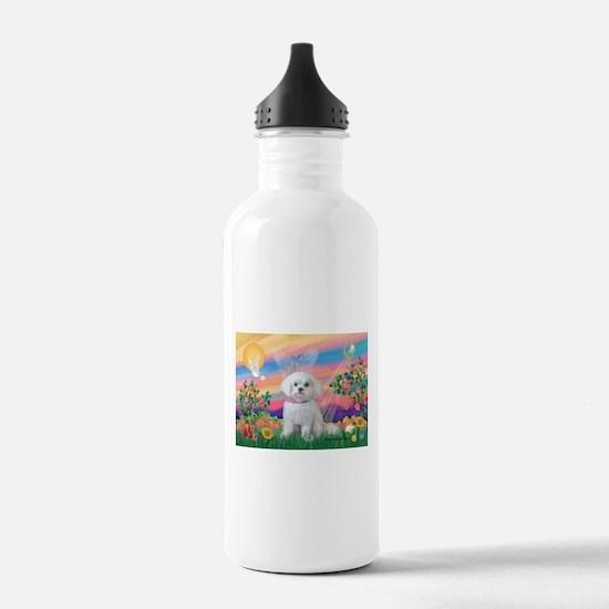 Guardian Angel / Maltese pup Water Bottle